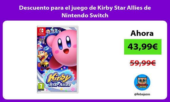 Descuento para el juego de Kirby Star Allies de Nintendo Switch