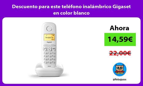 Descuento para este teléfono inalámbrico Gigaset en color blanco
