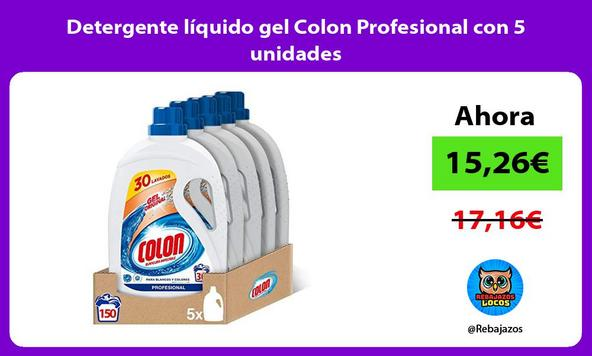 Detergente líquido gel Colon Profesional con 5 unidades