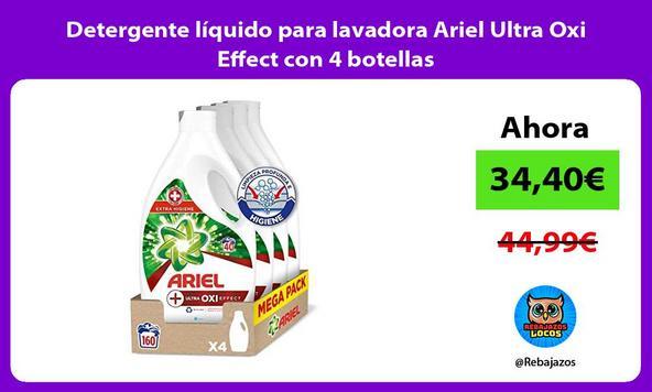 Detergente líquido para lavadora Ariel Ultra Oxi Effect con 4 botellas