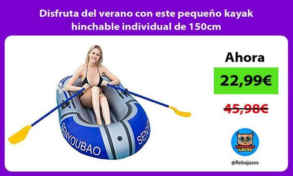 Disfruta del verano con este pequeño kayak hinchable individual de 150cm