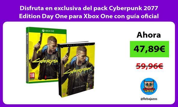Disfruta en exclusiva del pack Cyberpunk 2077 Edition Day One para Xbox One con guía oficial