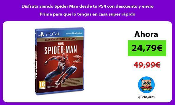 Disfruta siendo Spider Man desde tu PS4 con descuento y envío Prime para que lo tengas en casa super rápido