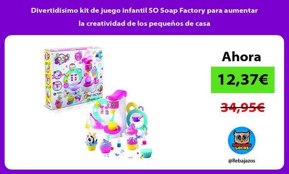 Divertidísimo kit de juego infantil SO Soap Factory para aumentar la creatividad de los pequeños de casa