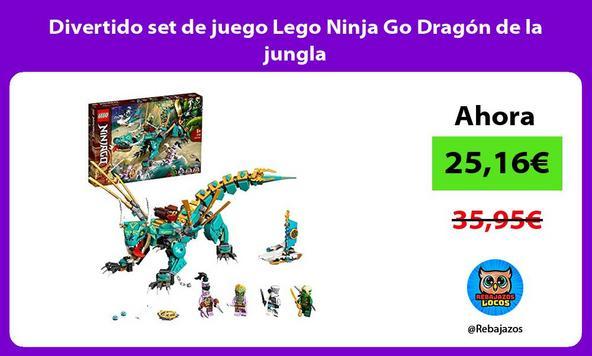 Divertido set de juego Lego Ninja Go Dragón de la jungla