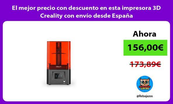 El mejor precio con descuento en esta impresora 3D Creality con envío desde España