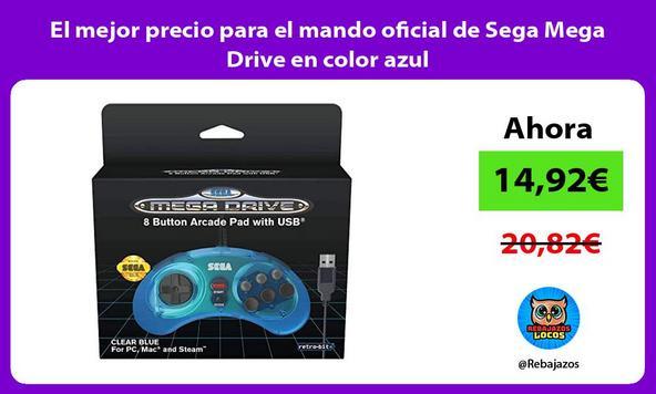 El mejor precio para el mando oficial de Sega Mega Drive en color azul