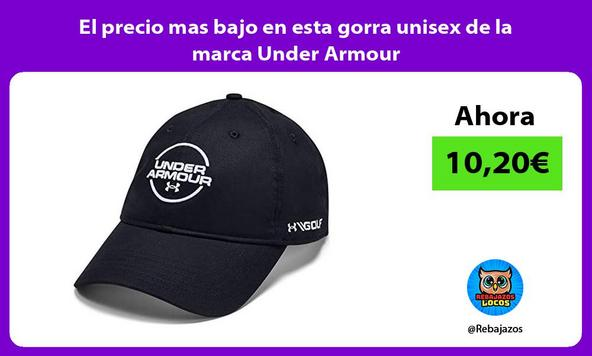 El precio mas bajo en esta gorra unisex de la marca Under Armour