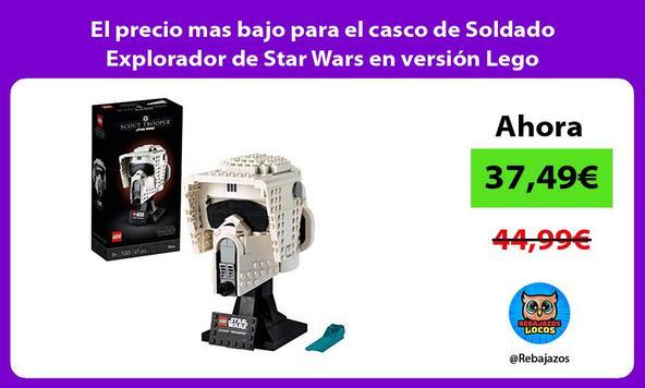 El precio mas bajo para el casco de Soldado Explorador de Star Wars en versión Lego