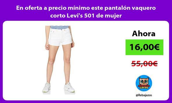 En oferta a precio mínimo este pantalón vaquero corto Levi's 501 de mujer