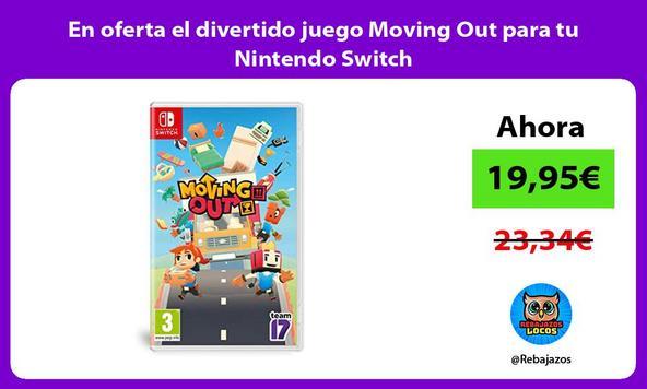 En oferta el divertido juego Moving Out para tu Nintendo Switch/