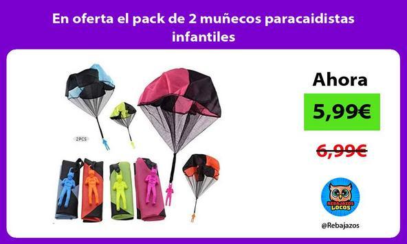 En oferta el pack de 2 muñecos paracaidistas infantiles