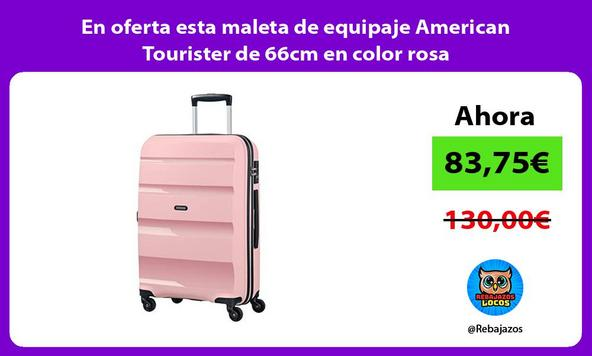 En oferta esta maleta de equipaje American Tourister de 66cm en color rosa
