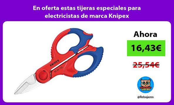 En oferta estas tijeras especiales para electricistas de marca Knipex/