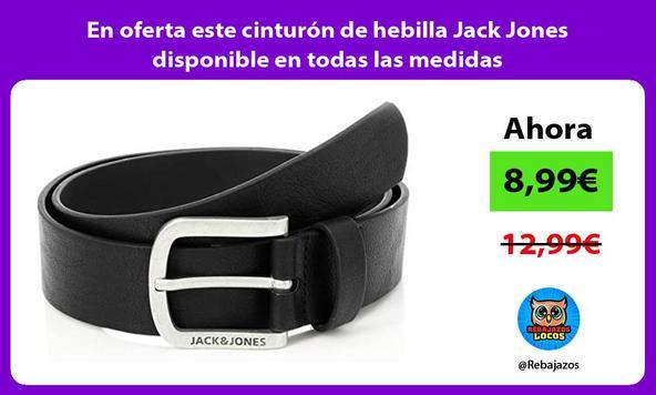 En oferta este cinturón de hebilla Jack Jones disponible en todas las medidas