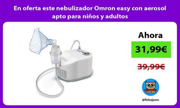 En oferta este nebulizador Omron easy con aerosol apto para niños y adultos