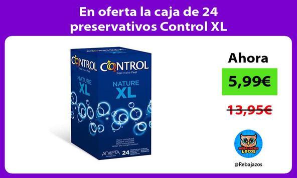 En oferta la caja de 24 preservativos Control XL