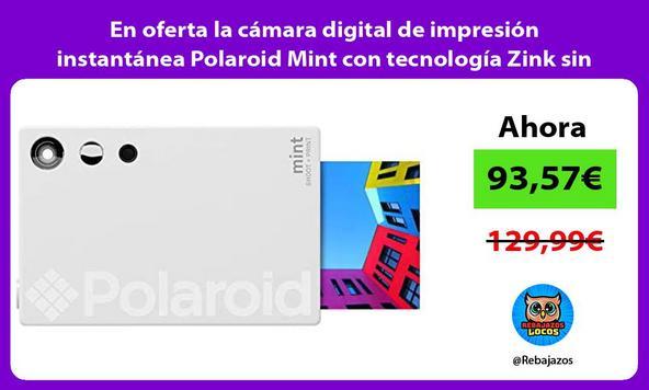 En oferta la cámara digital de impresión instantánea Polaroid Mint con tecnología Zink sin tinta