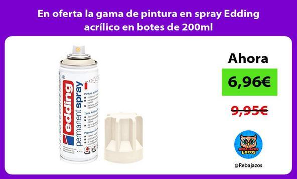 En oferta la gama de pintura en spray Edding acrílico en botes de 200ml