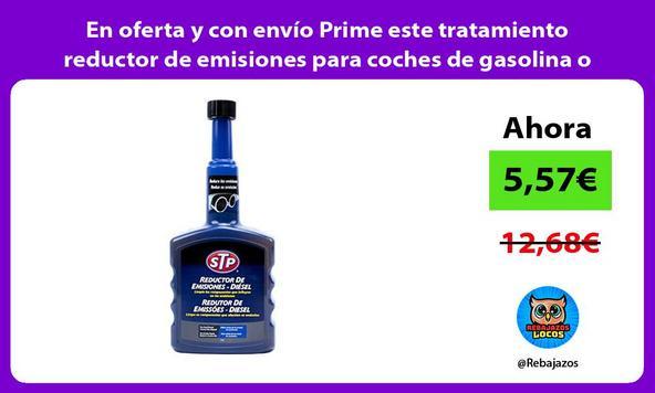 En oferta y con envío Prime este tratamiento reductor de emisiones para coches de gasolina o gasoil/
