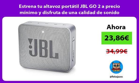Estrena tu altavoz portátil JBL GO 2 a precio mínimo y disfruta de una calidad de sonido excelente
