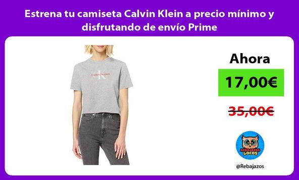 Estrena tu camiseta Calvin Klein a precio mínimo y disfrutando de envío Prime