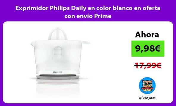 Exprimidor Philips Daily en color blanco en oferta con envío Prime