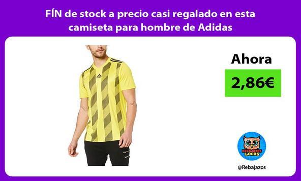 FÍN de stock a precio casi regalado en esta camiseta para hombre de Adidas