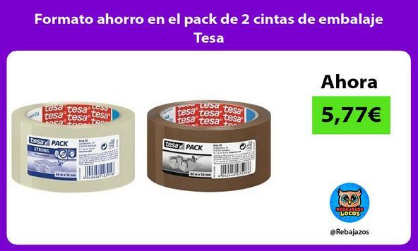 Formato ahorro en el pack de 2 cintas de embalaje Tesa