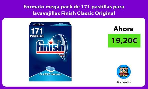 Formato mega pack de 171 pastillas para lavavajillas Finish Classic Original