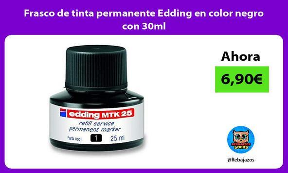 Frasco de tinta permanente Edding en color negro con 30ml