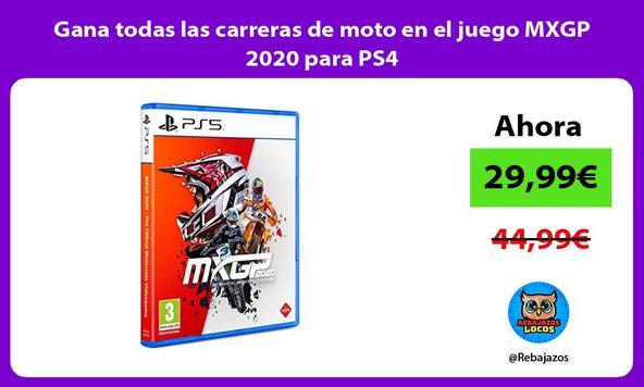 Gana todas las carreras de moto en el juego MXGP 2020 para PS4