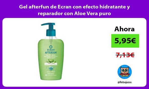 Gel afterfun de Ecran con efecto hidratante y reparador con Aloe Vera puro
