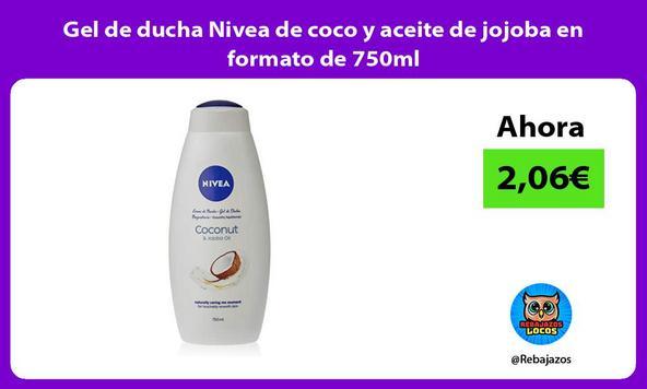 Gel de ducha Nivea de coco y aceite de jojoba en formato de 750ml