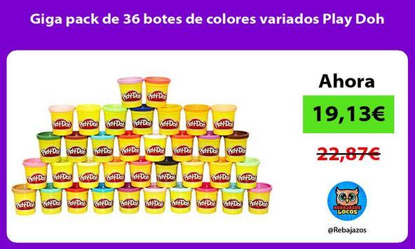 Giga pack de 36 botes de colores variados Play Doh