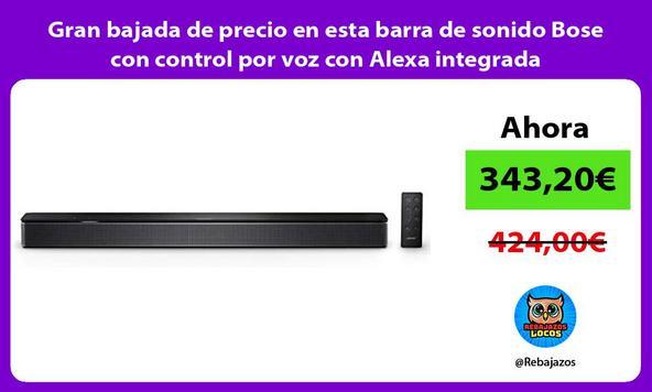 Gran bajada de precio en esta barra de sonido Bose con control por voz con Alexa integrada