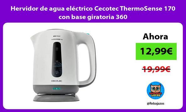 Hervidor de agua eléctrico Cecotec ThermoSense 170 con base giratoria 360