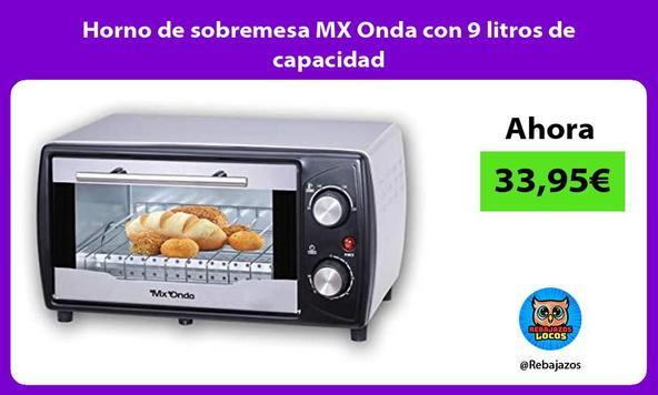 Horno de sobremesa MX Onda con 9 litros de capacidad