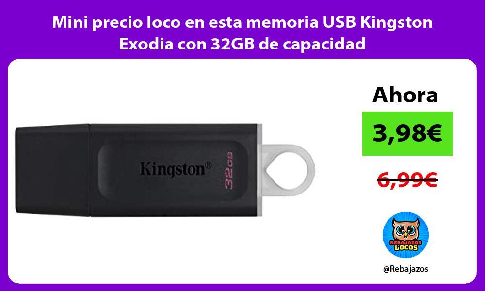 Mini precio loco en esta memoria USB Kingston Exodia con 32GB de capacidad