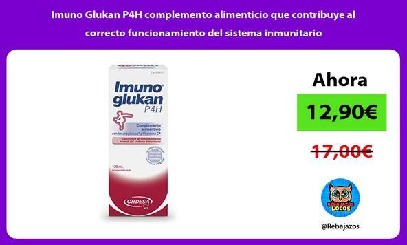 Imuno Glukan P4H complemento alimenticio que contribuye al correcto funcionamiento del sistema inmunitario