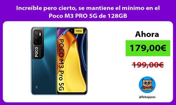 Increíble pero cierto, se mantiene el mínimo en el Poco M3 PRO 5G de 128GB