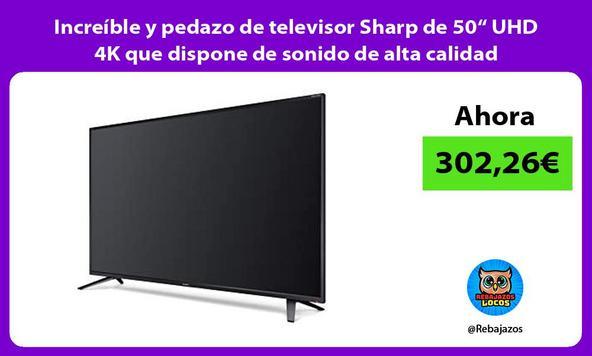 """Increíble y pedazo de televisor Sharp de 50"""" UHD 4K que dispone de sonido de alta calidad"""
