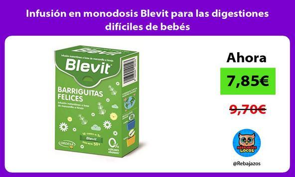 Infusión en monodosis Blevit para las digestiones difíciles de bebés