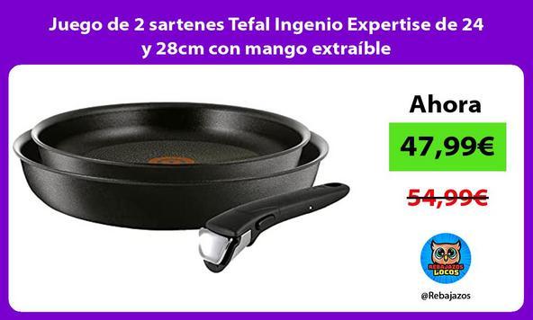 Juego de 2 sartenes Tefal Ingenio Expertise de 24 y 28cm con mango extraíble