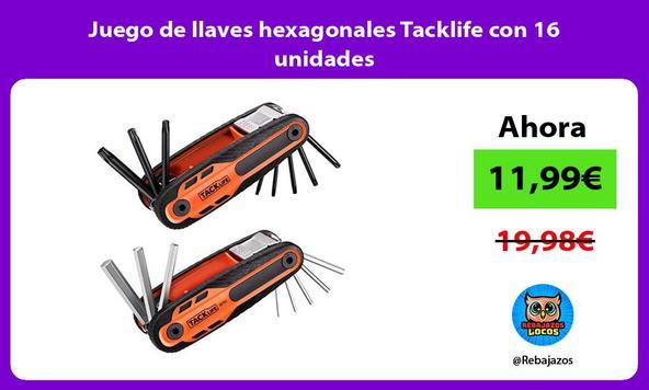 Juego de llaves hexagonales Tacklife con 16 unidades