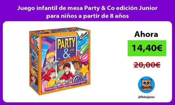 Juego infantil de mesa Party & Co edición Junior para niños a partir de 8 años