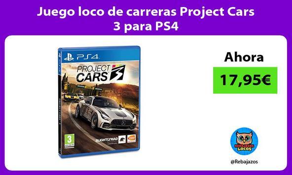 Juego loco de carreras Project Cars 3 para PS4
