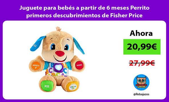 Juguete para bebés a partir de 6 meses Perrito primeros descubrimientos de Fisher Price