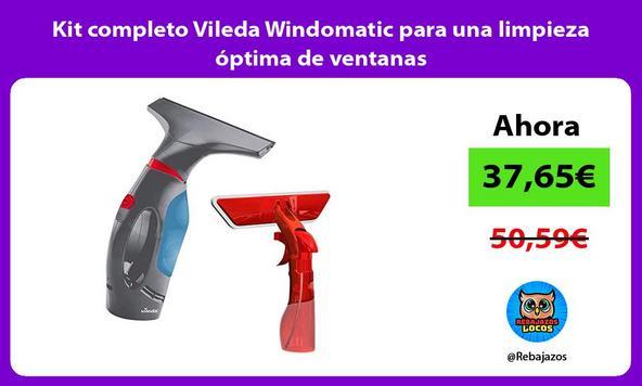 Kit completo Vileda Windomatic para una limpieza óptima de ventanas