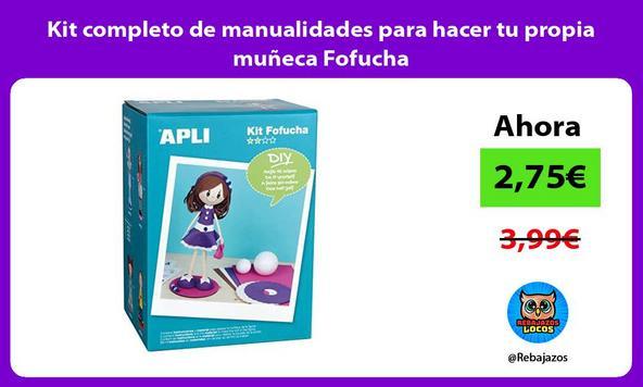 Kit completo de manualidades para hacer tu propia muñeca Fofucha